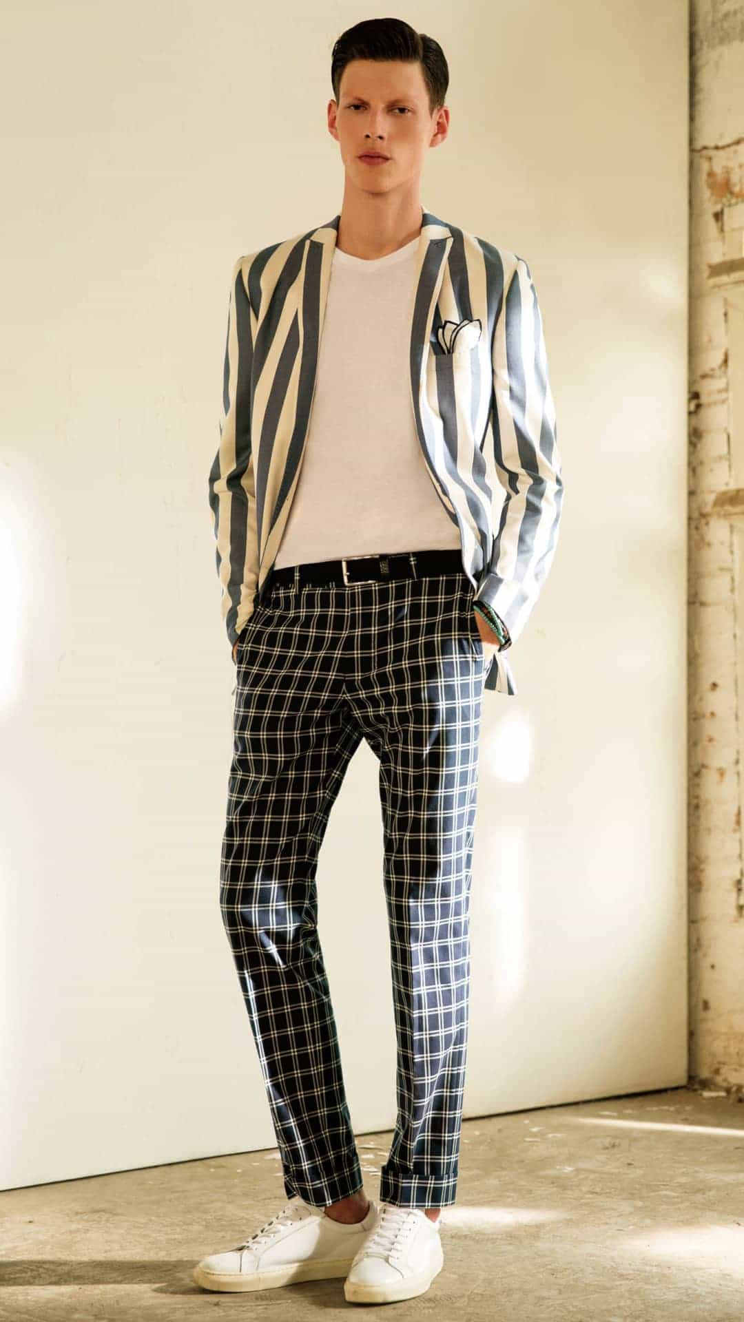 Beatiful bespoke check pants