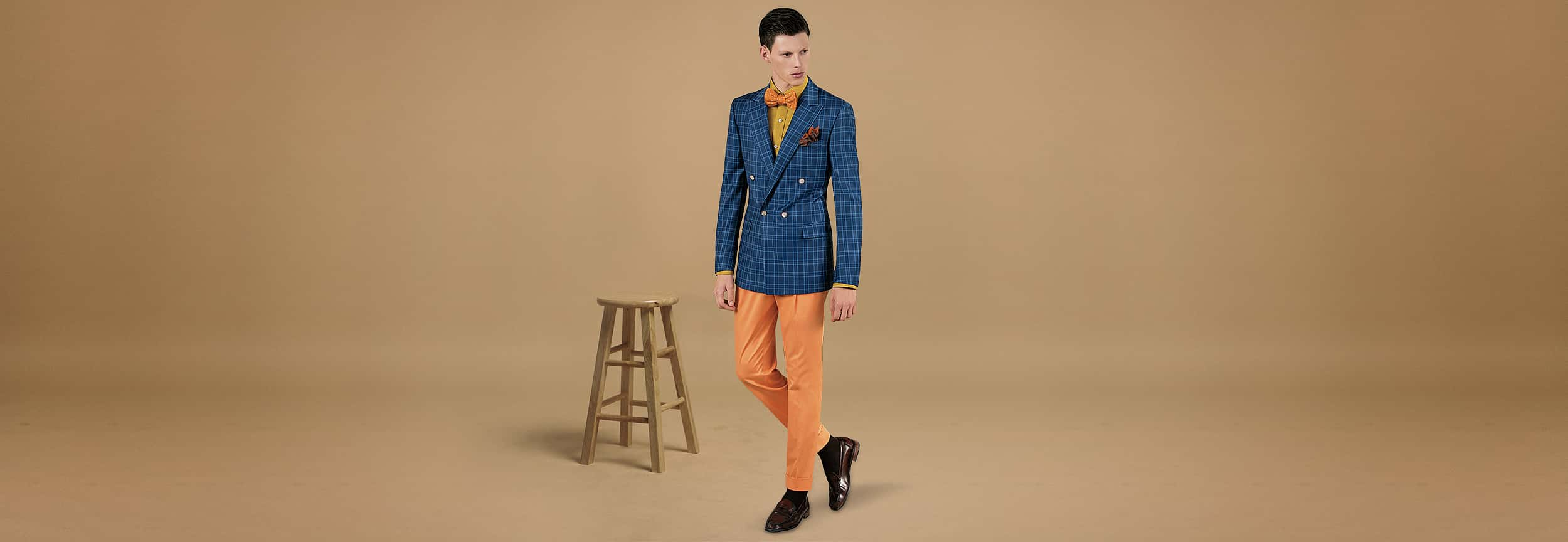 bespoke orange pants